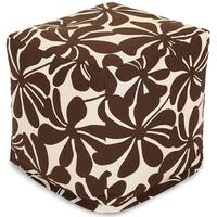Majestic Home Goods Plantation Indoor / Outdoor Ottoman Pouf Cube
