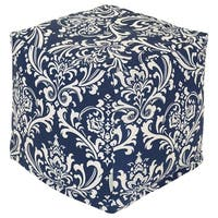 Shop Yorkshire Turquoise Tapestry Pouf Ottoman Free