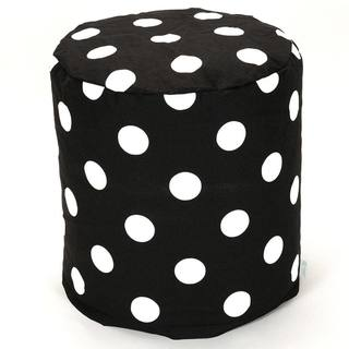 Majestic Home Goods Black Large Polka Dot Pouf