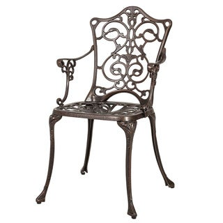 Christopher Knight Home Lauren Outdoor Cast Aluminum Dining Chair (Set of 2)