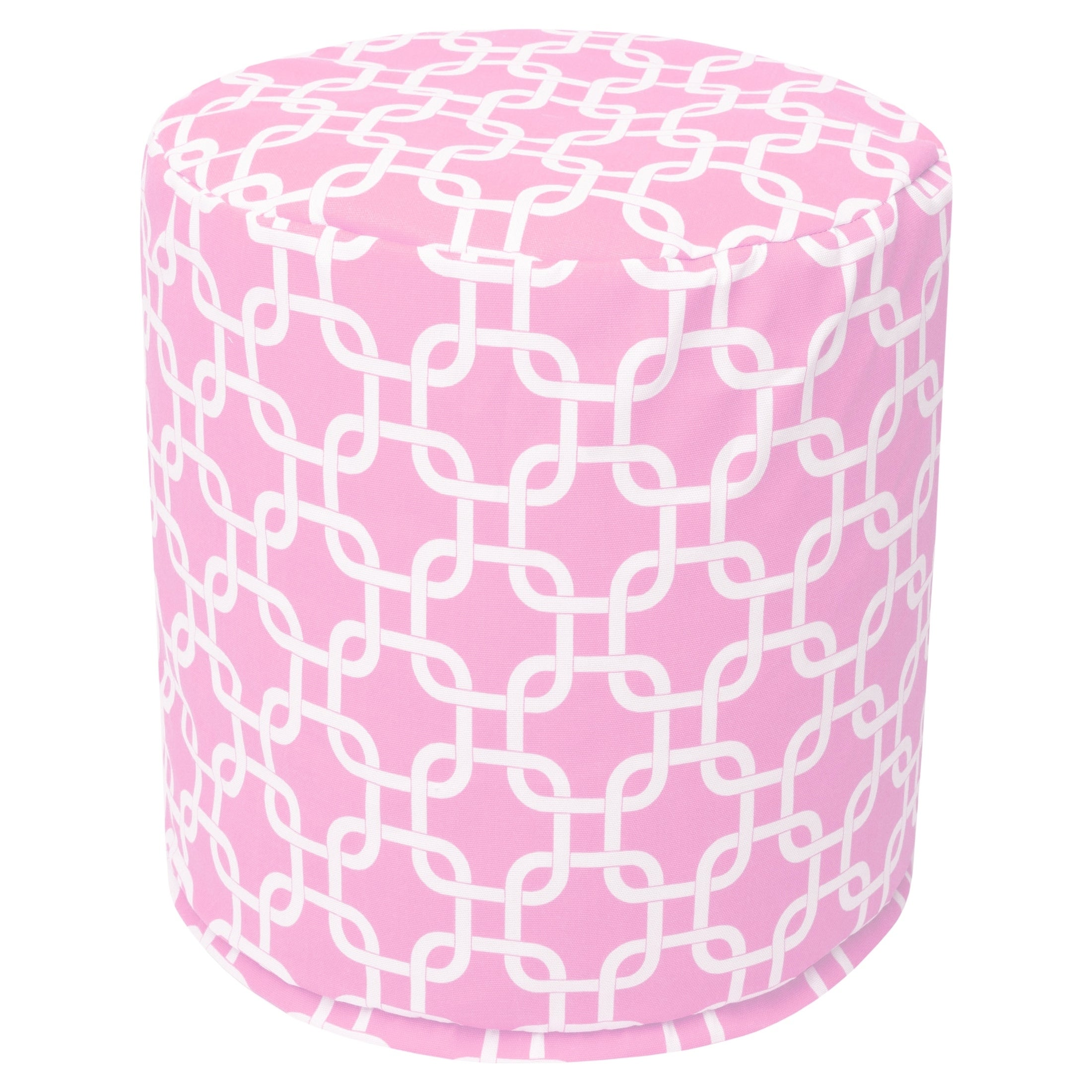 Majestic Home Soft Pink Links Pouf (Soft Pink Links Small...