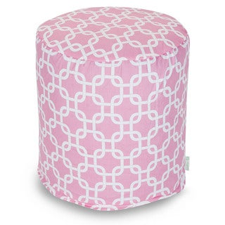 Majestic Home Goods Soft Pink Links Pouf