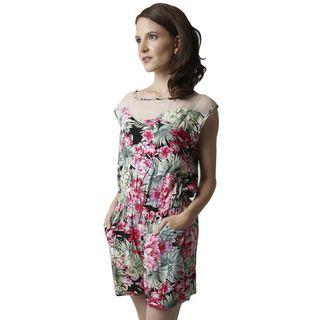 Soho Women Red Sleeveless Elastic Waist Printed Floral Romper