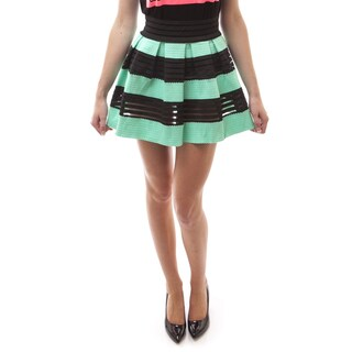 Soho Women Causal Polyester Pleated Bandage Skirt
