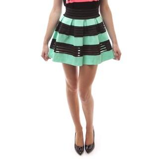 Soho Women Causal Polyester Pleated Bandage Skirt
