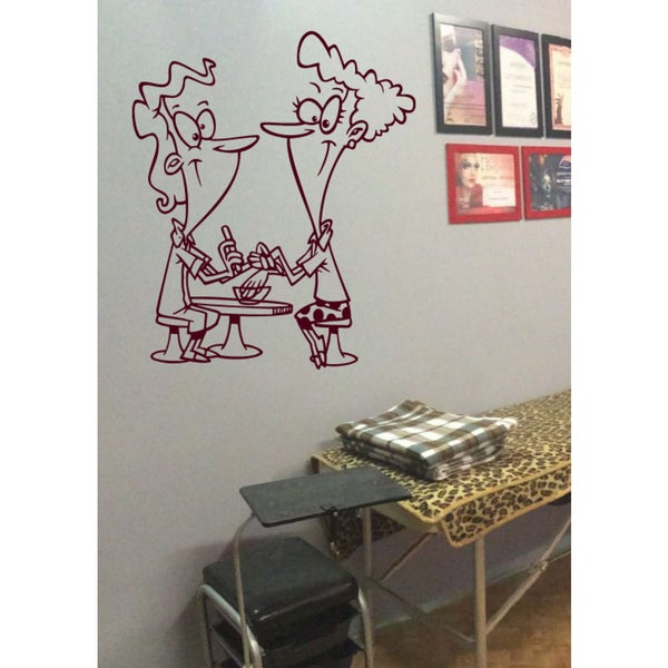 Shop Funny nail salon Wall Art Sticker Decal Red - Free Shipping On ...