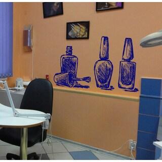 Beautiful nail polishes Wall Art Sticker Decal Blue