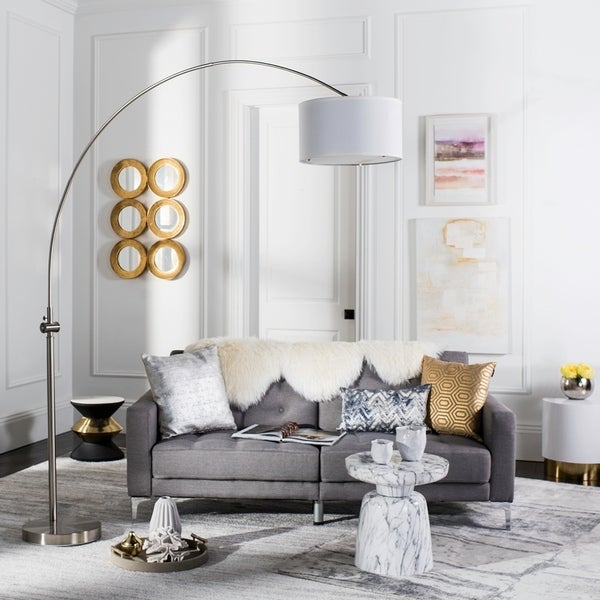 Shop Safavieh Lighting 86 Inch Ascella Arc Floor Lamp On