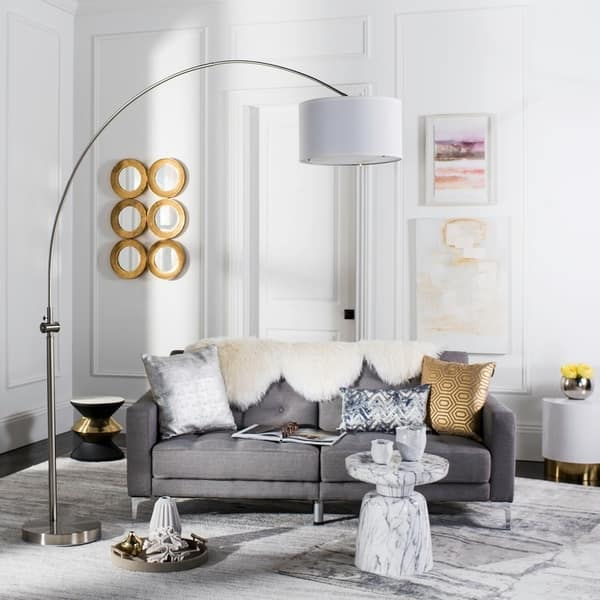 Excellent Shop Safavieh Lighting 86 Inch Ascella Arc Floor Lamp On Ibusinesslaw Wood Chair Design Ideas Ibusinesslaworg