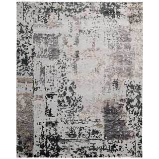 Nourison Silk Shadows Silver/Grey Rug (7'9 x 9'9)
