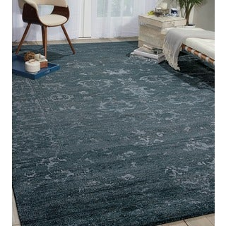 Nourison Silk Shadows Blue Stone Rug (7'9 x 9'9)