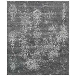 Nourison Silk Shadows Graphite Rug (7'9 x 9'9)