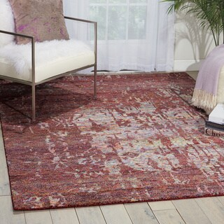 Nourison Silk Shadows Wine Rug (8'6 x 11'6)