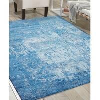 Nourison Silk Shadows Ocean Rug (7'9 x 9'9)