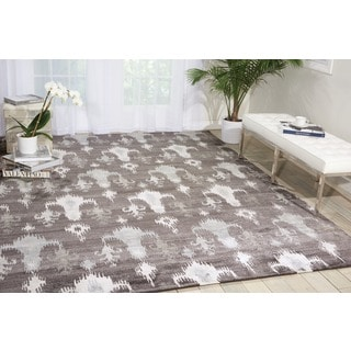 Nourison Silk Shadows Grey Rug (8'6 x 11'6)