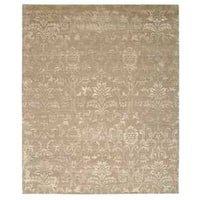 Nourison Silk Shadows Light Gold Rug - 7'9 x 9'9
