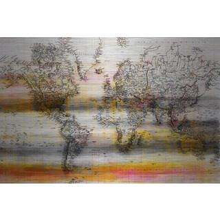 Parvez Taj 'Topographical Map' Print on Brushed Aluminum