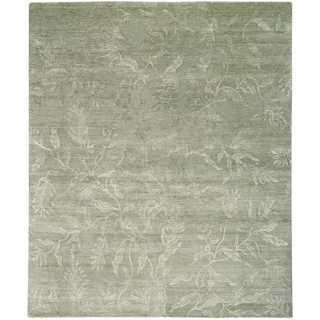 Nourison Silk Shadows Light Green Rug (7'9 x 9'9)