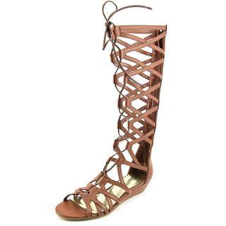 Carlos Santana Women's 'Kleo' Brown Faux Leather Sandals