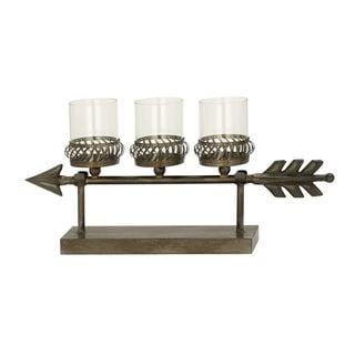 Fashionable Metal Glass Candle Holder
