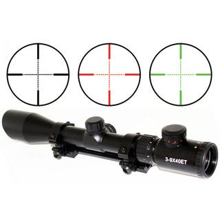3-9 x 40 Rifle Scope Red-Green Illumination With Built-in Cut sunshade for Remington 700 Long Action