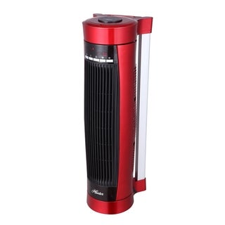 Hunter HPH15-E Red Vertical and Horizontal Oscillating Digital Ceramic Heater with Remote Control