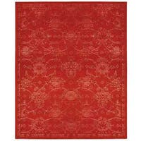 Nourison Silk Infusion Red Rug