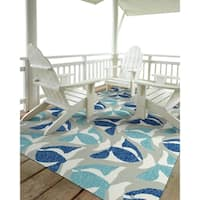 Indoor/Outdoor Beachcomber Seafish Blue Rug - 5' x 7'6