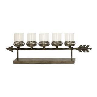 Gorgeous Metal Glass Candle Holder