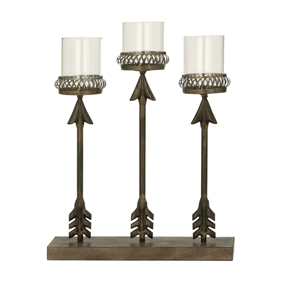 Chic Metal Glass Candle Holder