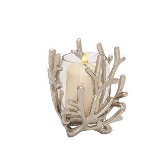 Stylish Aluminum Glass Candle Holder