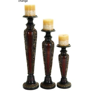 Gracewood Hollow Abbott Polystone Candle Holder (Set Of 3)