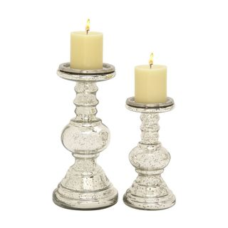 Enticing (Set Of 2) Glass Candle Holder