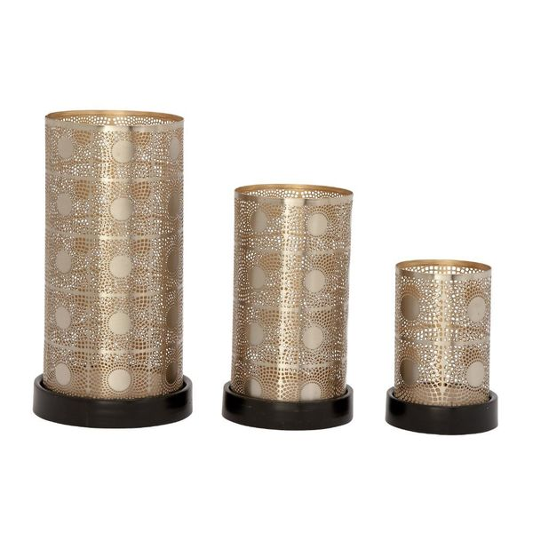 Trendy Metal Candle Holder Silver (Set Of 3)