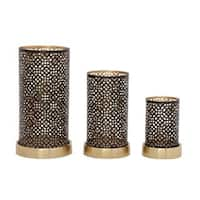 The Curated Nomad Lotta Set of 3 Silver Metal Candle Holders