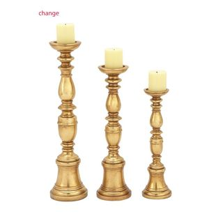 Ornamental Ps Gold Candle Holder (Set Of 3)