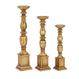 Exclusive Ps Gold Candle Holder (Set Of 3)
