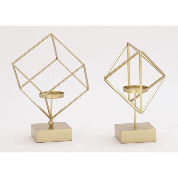 Trendy Metal Candle Holder 2 Assorted