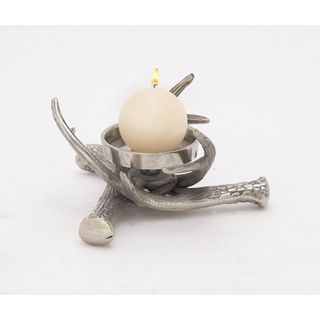 Inventive Aluminum Antler Candle Holder