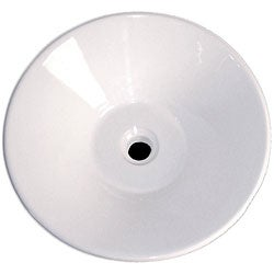 Fontaine Martini Round Porcelain Vessel Bathroom Sink