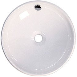 Fontaine Large Round Porcelain Vessel Sink