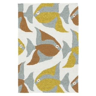 Indoor/Outdoor Beachcomber Seafish Multi Rug (2' x 3')