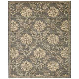 Nourison Silk Elements Graphite Rug (8'6 x 11'6)