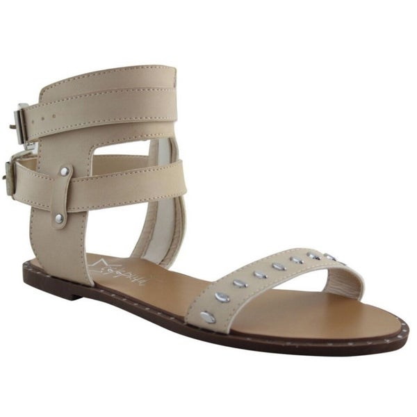 907129665 Shop Women s Lily Brown Black Nude Faux Leather Gladiator Sandal ...
