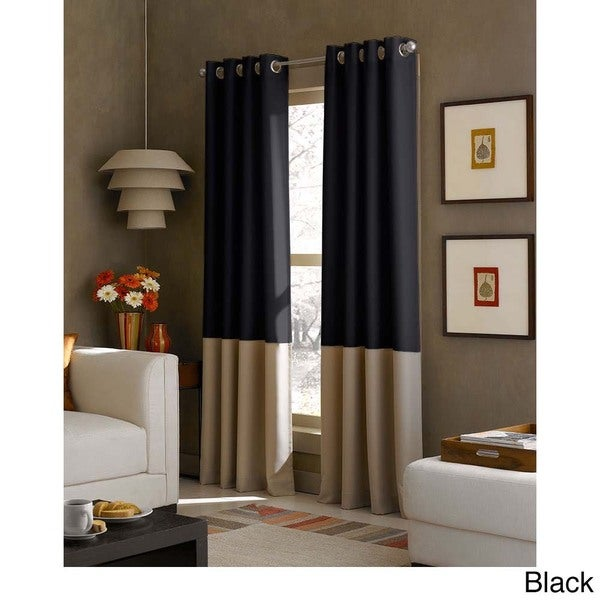 Kendall Color Block Grommet Curtain Panel - Free Shipping On Orders Over  $45 - Overstock.com - 18730806