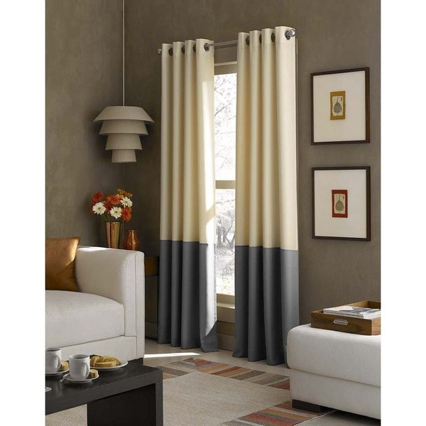 Kendall Color Block Grommet Curtain Panel. Opens flyout.