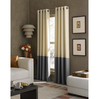 Kendall Color Block Grommet Curtain Panel (Option: 108 Inches)