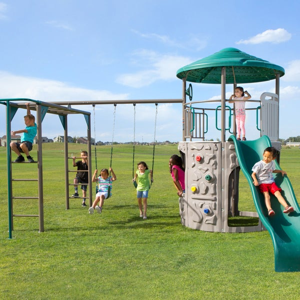 Lifetime Adventure Tower Multi Powder-coated Steel Deluxe Play Set
