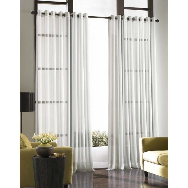 Soho Voile Lightweight Sheer Grommet Long Length Curtain Panel 18730809