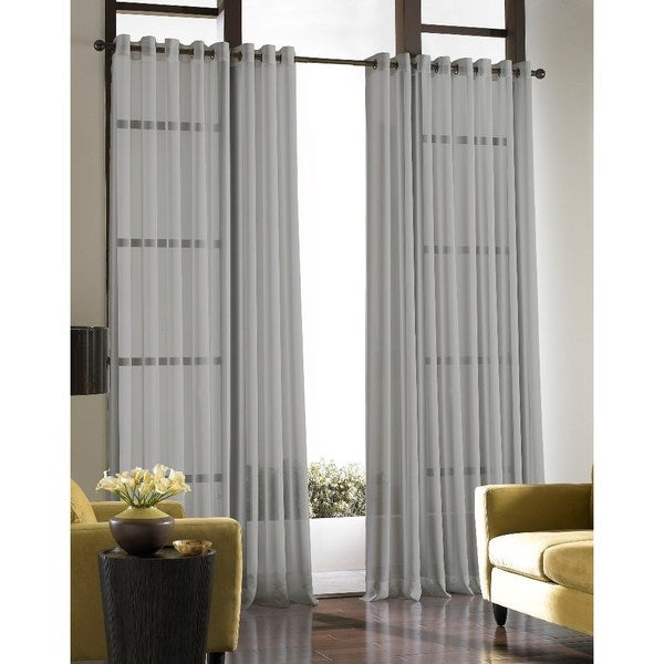 Soho Voile Lightweight Sheer Grommet Long Length Curtain Panel